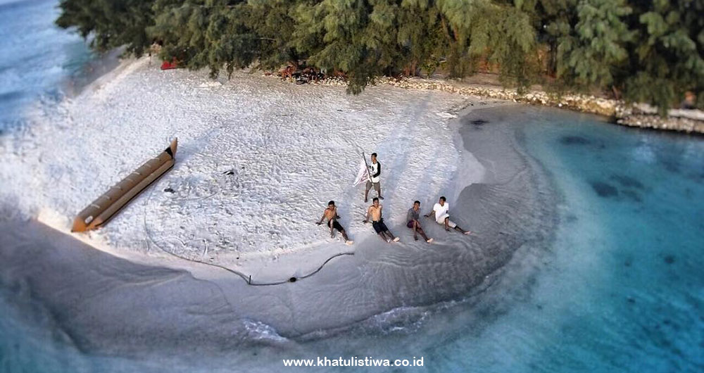 pulau Dolphin, pulau perawan di pulau Harapan