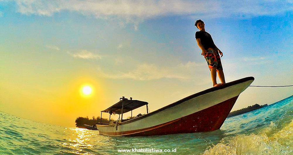 senja dan pagi mentari pulau Harapan